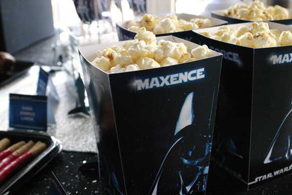 Sweet table - Star Wars - pop corn box