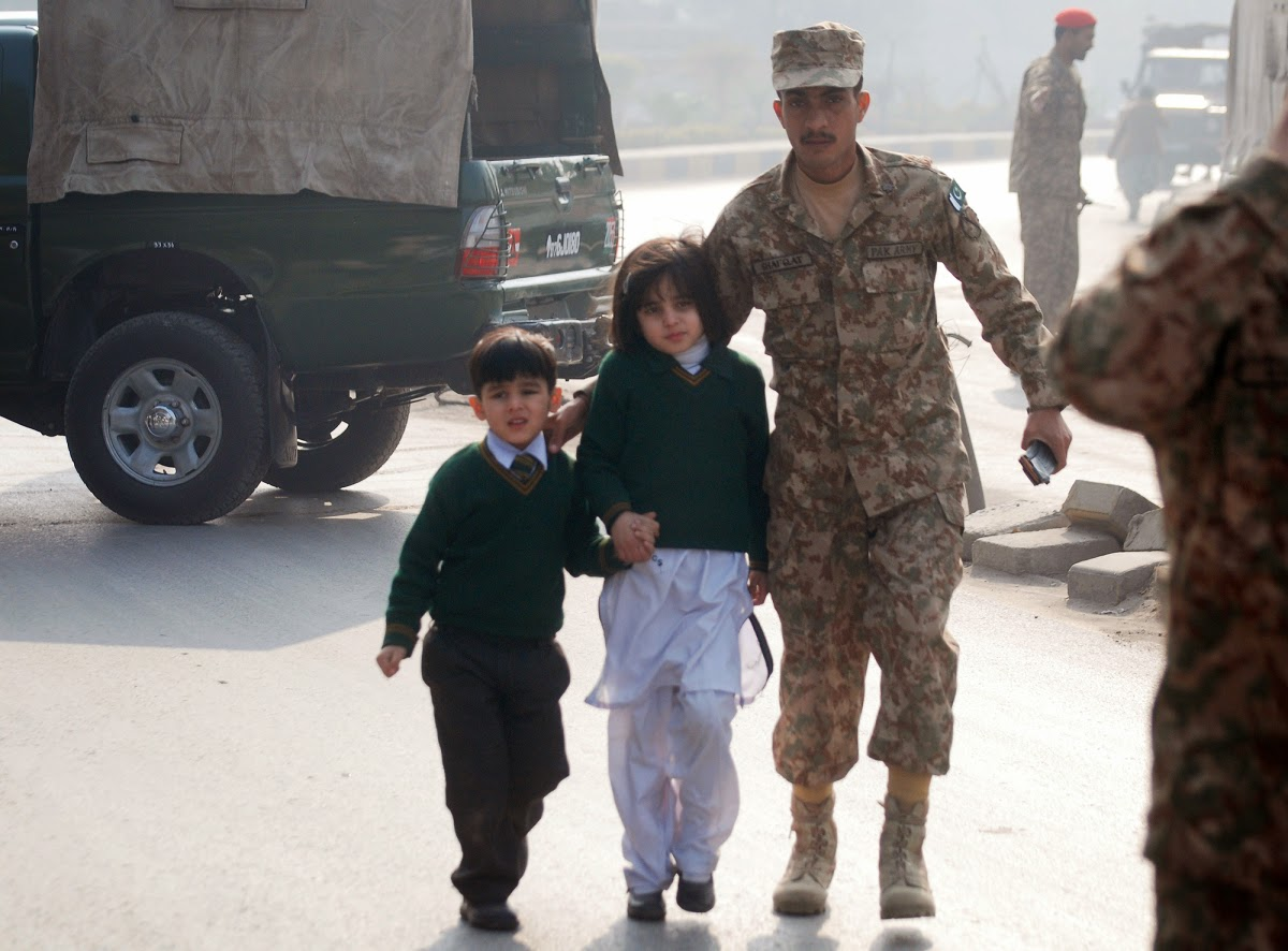 #IndiaWithPakistan Attack on Army Public School in Peshawar