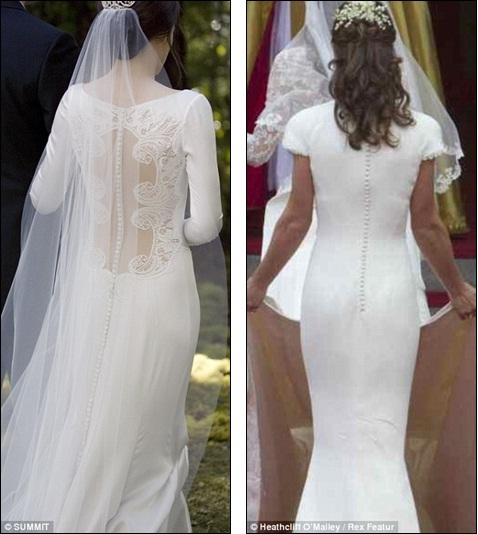 Happy by celebrity revealed bella swans stunning 35000 twilight happy by celebrity revealed bella swans stunning 35000 twilight wedding dress unveiled and doesnt it look familiar junglespirit Choice Image