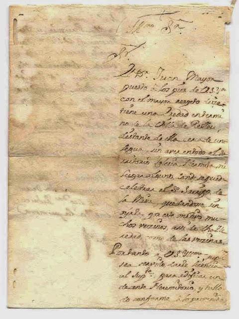 Documento firmado por el Arzobispo de Valencia sobre concesión de edificar una ermita en Relleu. Año 1744