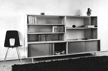 Bibliotheque Moderniste années 50