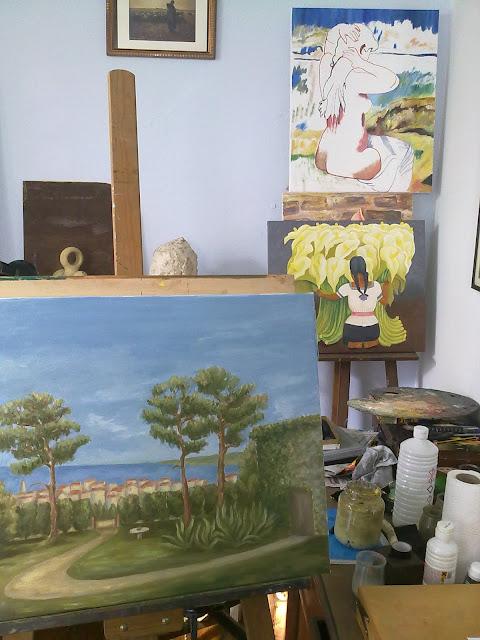 oleo,paisaje.almeria