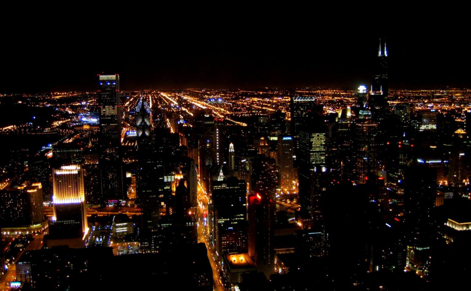 New York City At Night Free Wallpaper