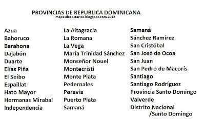 Provincias de Republica Dominicana