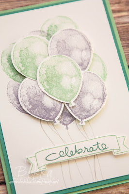 Bunch of Spring Balloons with Balloon Builder Stamp Set from Stampin' Up! UK