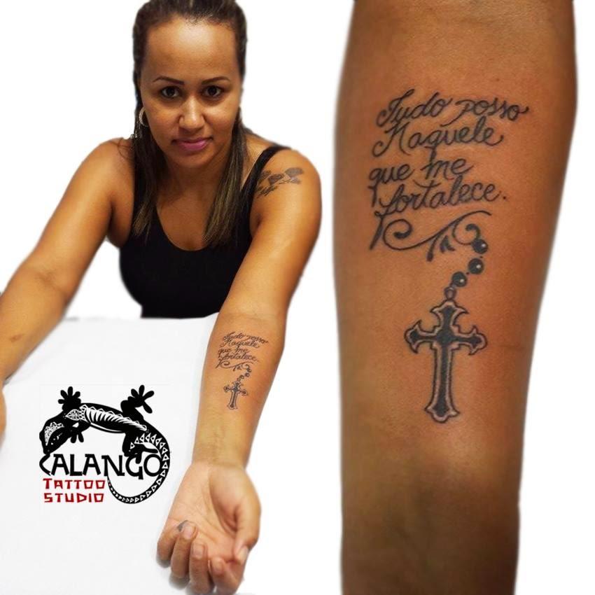 Tudo Posso Naquele Que Me Fortalece Calango Tattoo Studio