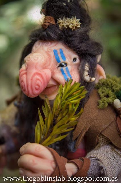 fantasy creature faerie goblin ooak doll