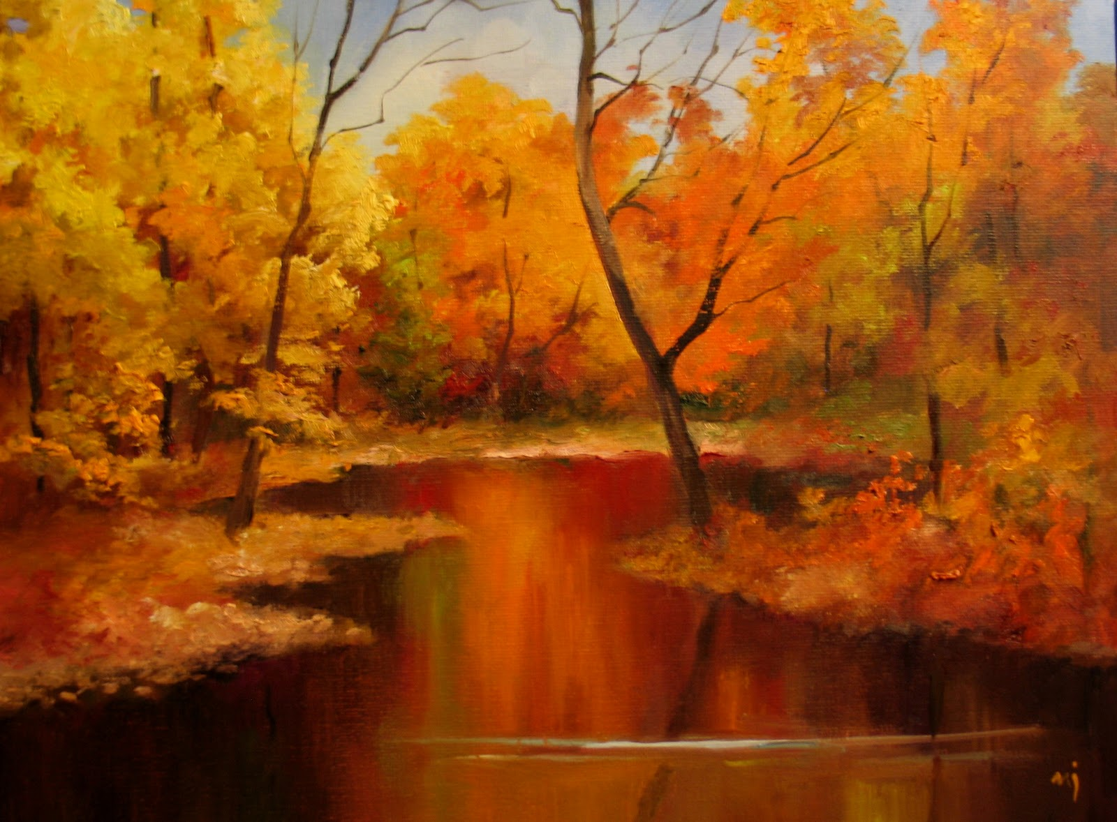 nel 39 s everyday painting autumn landscape demo sold