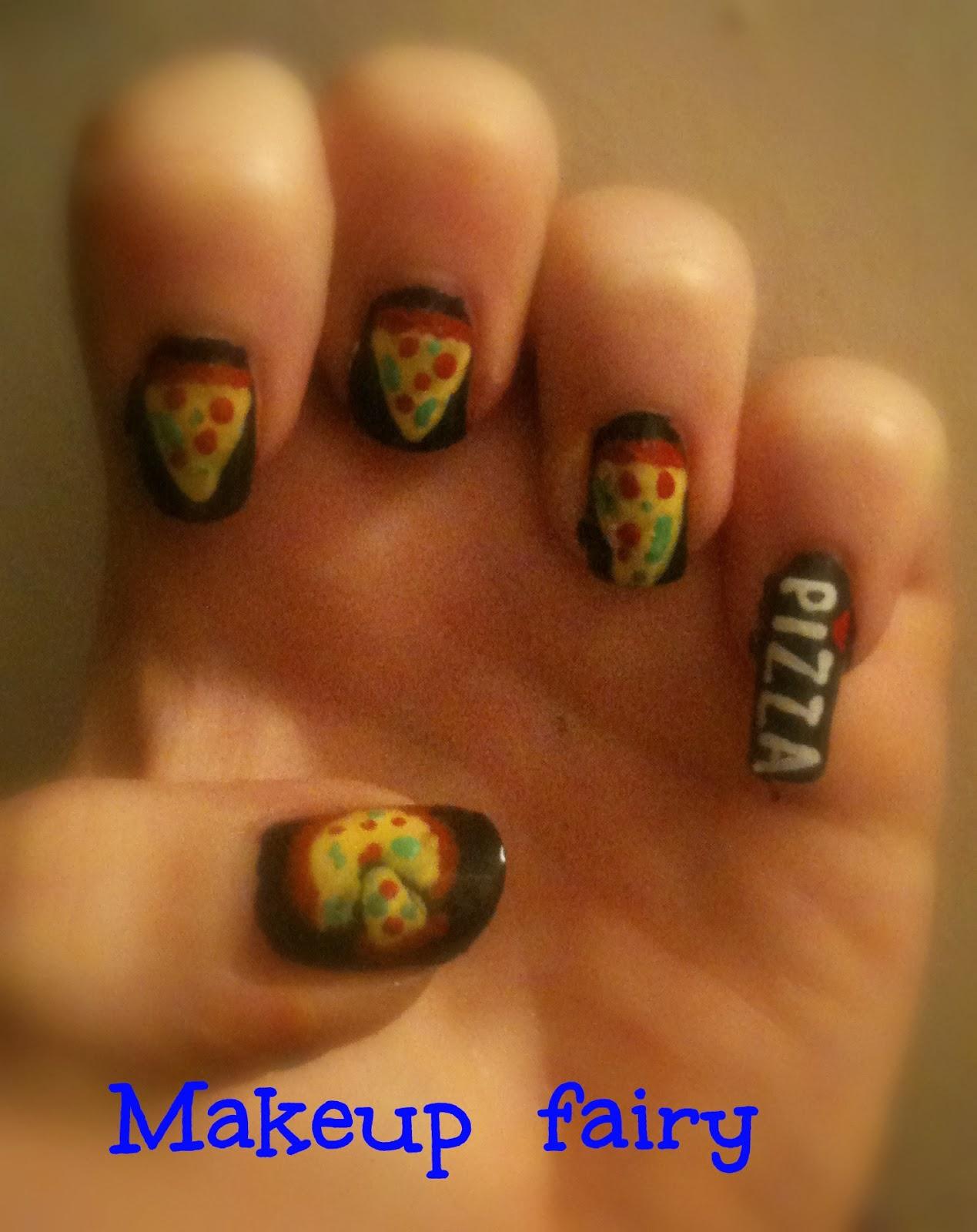 Tinklesmakeup: Pizza nail art