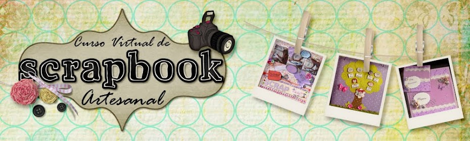 Curso virtual de scrapbook artesanal