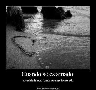 Cuando se es amado no se duda de nada, cuando se ama se duda de todo.