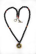 Onyx with Coins Necklace