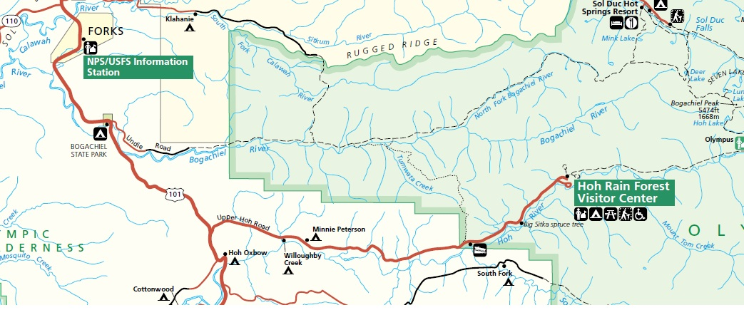 olympic national park trail map pdf