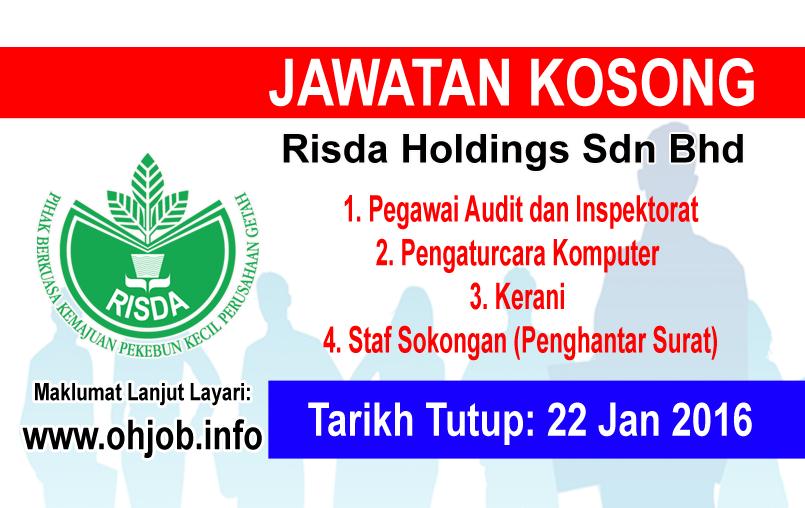 Jawatan Kerja Kosong RISDA Holdings logo www.ohjob.info januari 2016