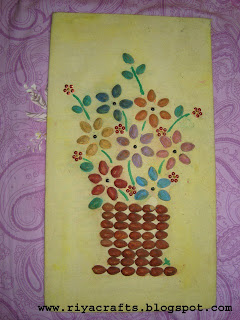 Craft Ideas  Pista Shells on Riya S Crafts      Craft Ur Scrap  Wall Hanging   Pista Shells