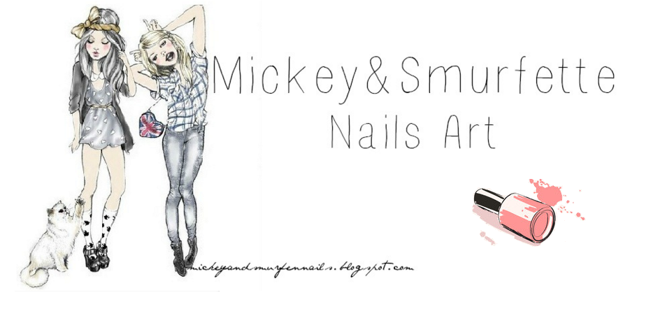 Mickey&Smurfen Nails Art