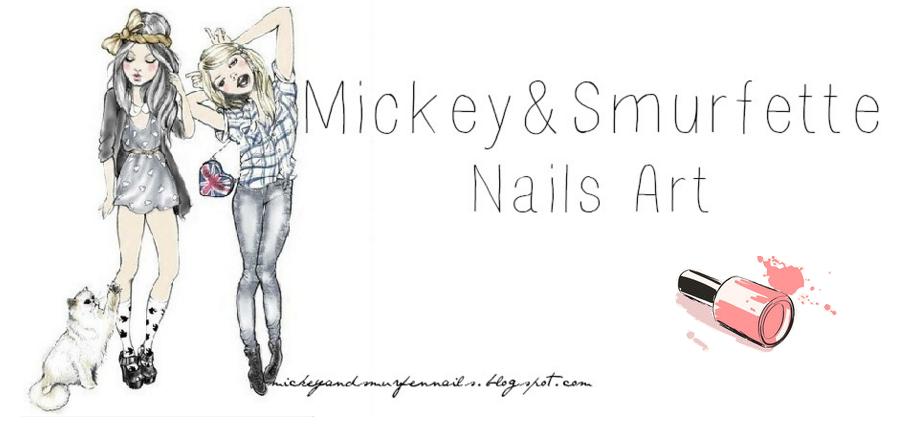 Mickey&Smurfen Nails Art