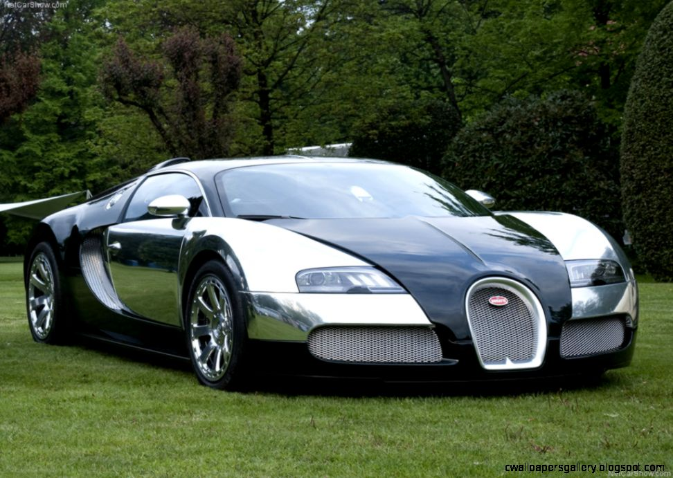 White And Black Bugatti Veyron Wallpaper   image 134