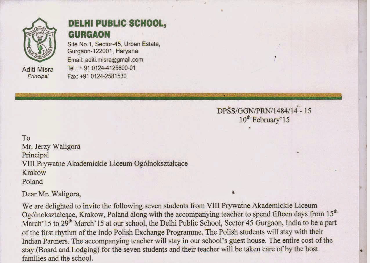 Indo polish student exchange 2015 invitation letter indo polish exchange student invitation letter stopboris Image collections