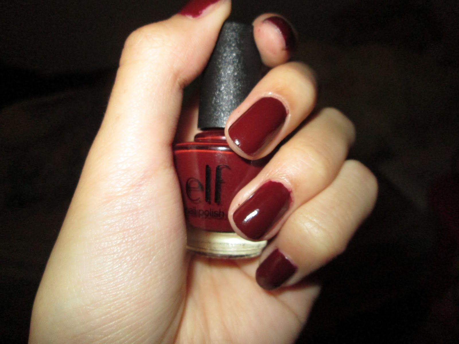 E.L.F. Nail Polish in Dark Red