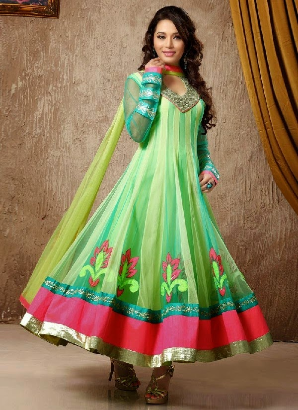 Exclusive Indian Anarkali Frocks Collection 2014 With Shimmer ...