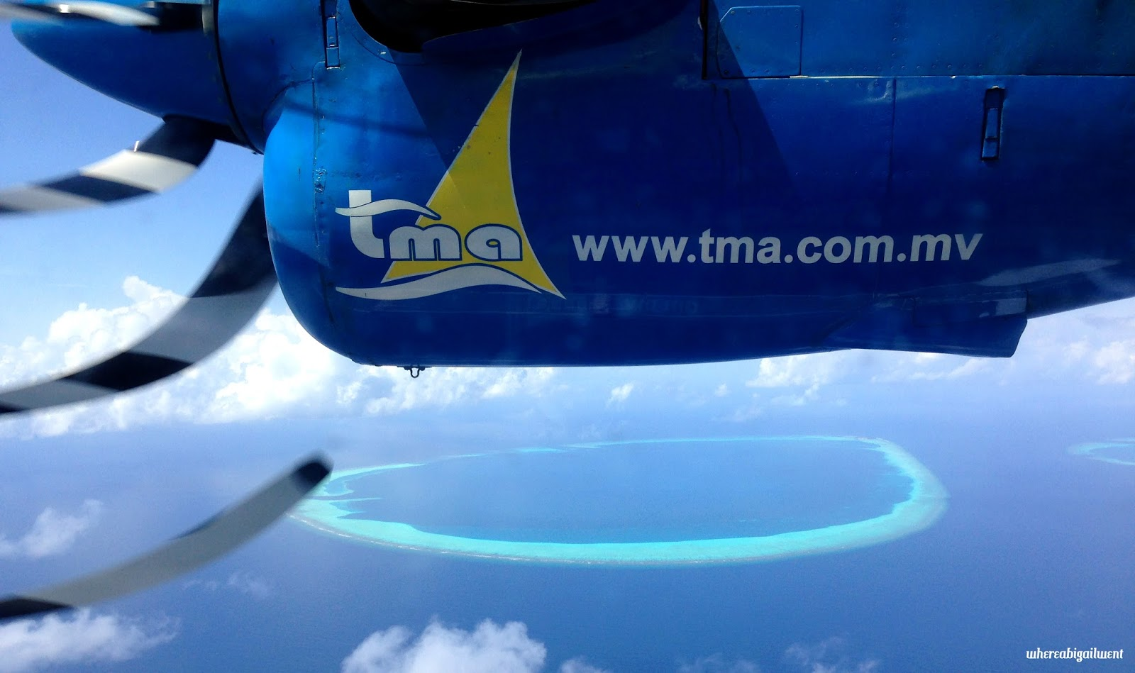 View from a TMA sea plane