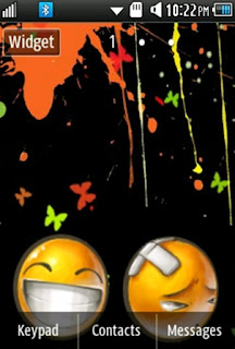 Other Cute, Yellow Smiley Samsung Corby 2 Theme Wallpaper