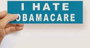Sign saying I hate Obama Care