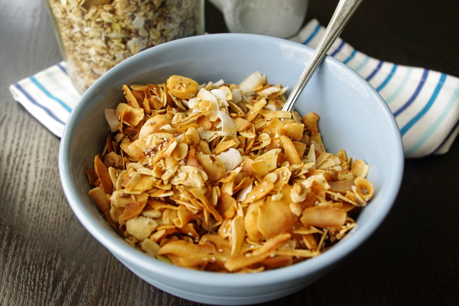 Coconut and chia crunchy granola