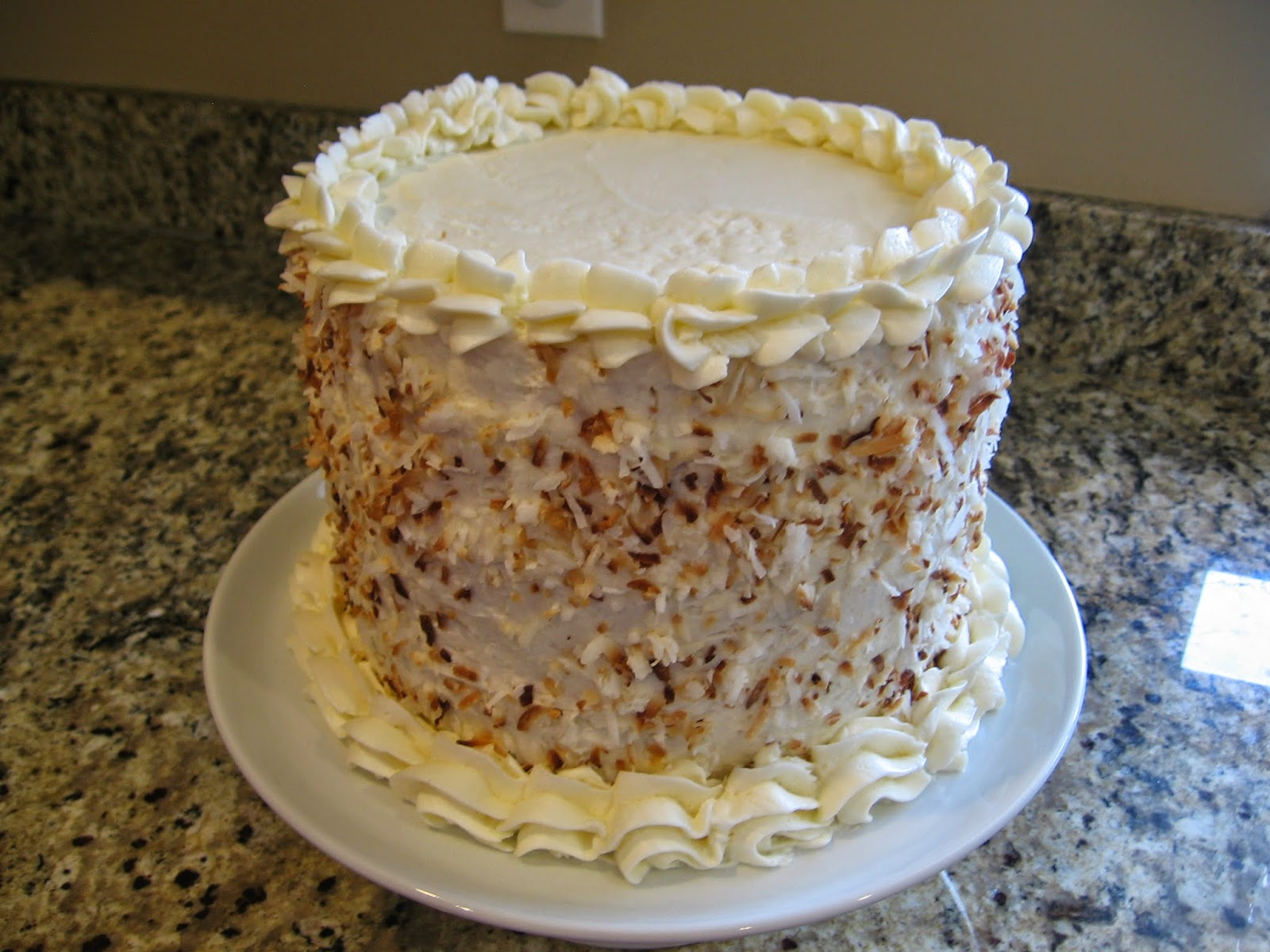 eight inch round coconut cake with key lime filling coconut cream ...