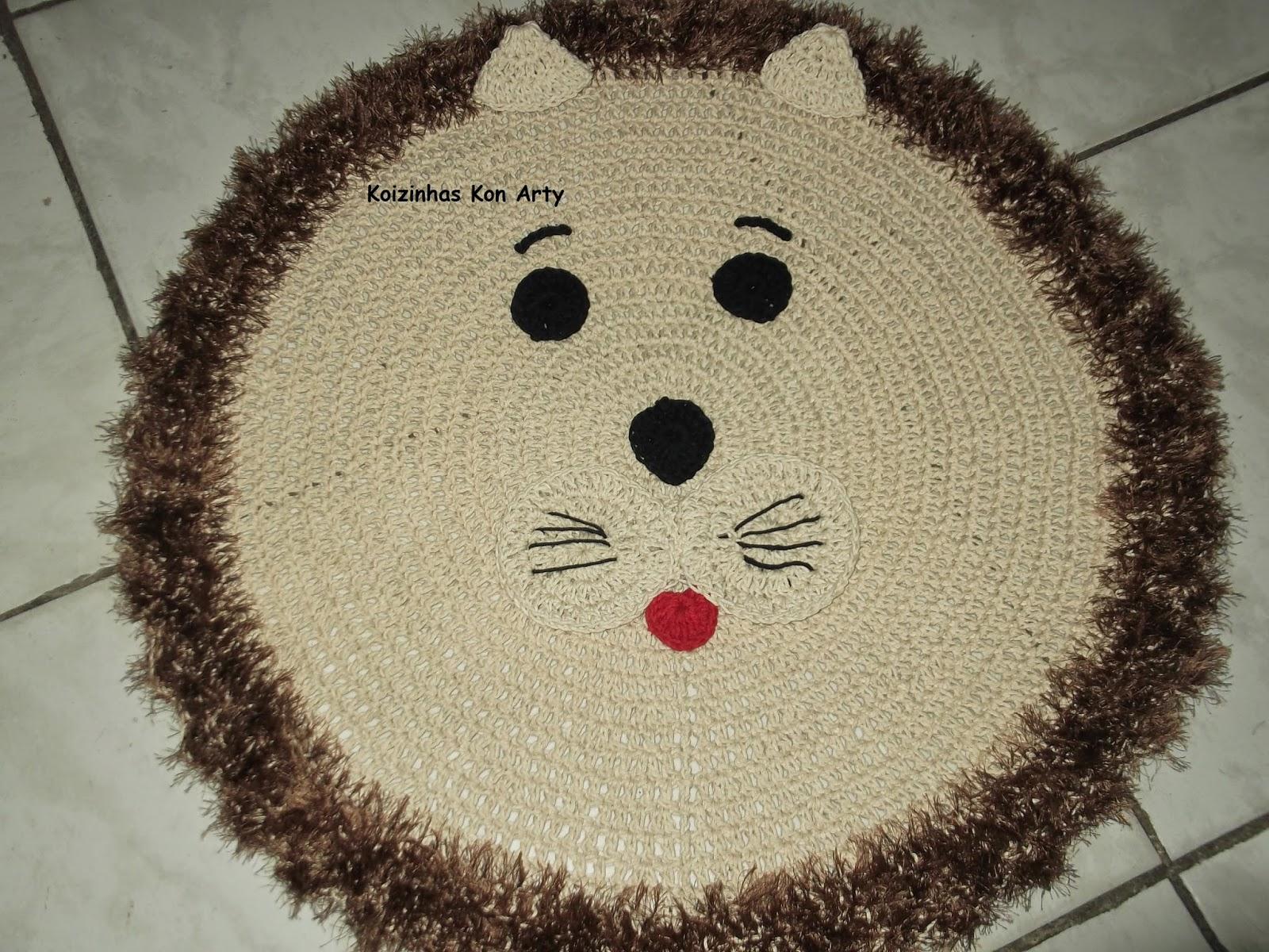 Kon Arty Crochê & Artesanato: Tapetes de crochê bichinhos #A82330 1600 1200