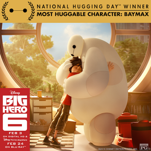baymax national hugging day award winner