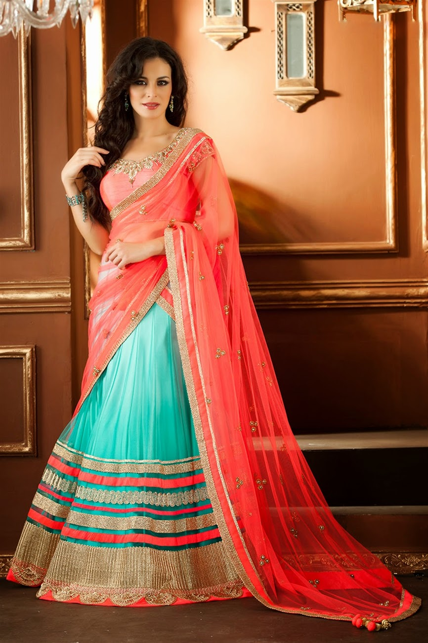 Albarino Net  Bollywood Designer Bridal Wear Lehenga Choli