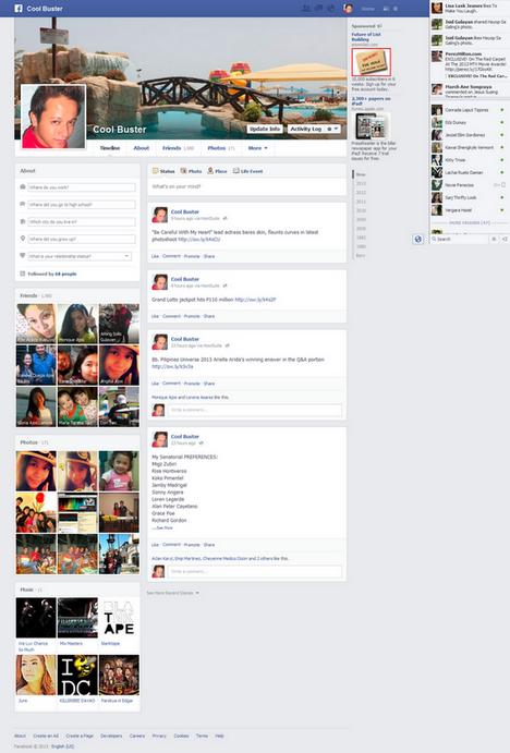 April Timeline Facebook Facebook Redesign April 2013
