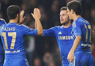 Eden Hazard, Juan Mata and Oscar, Chelsea midfielders