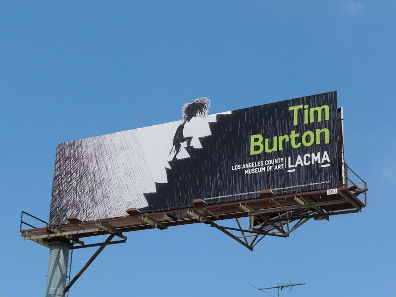 Tim Burton LACMA show billboard