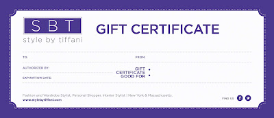 image consultant gift certificate