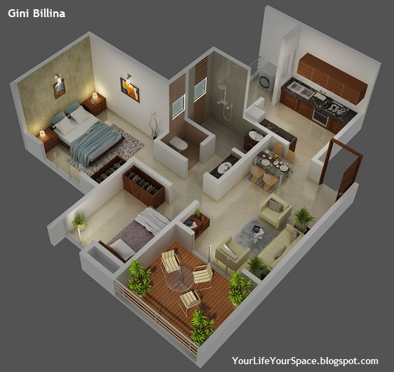 Gini Bellina 15 BHK Apartment Design Plan