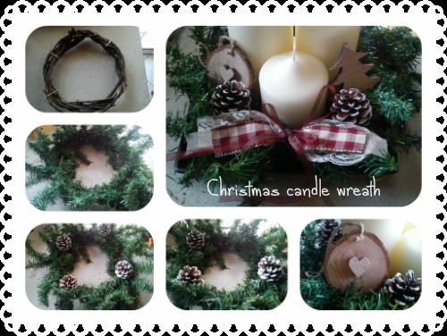 Χριστουγεννιάτικο στεφάνι με κεριά για το τραπέζι-tutorial