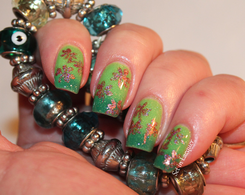 St. Patrick's Day Shamrock Nail Art