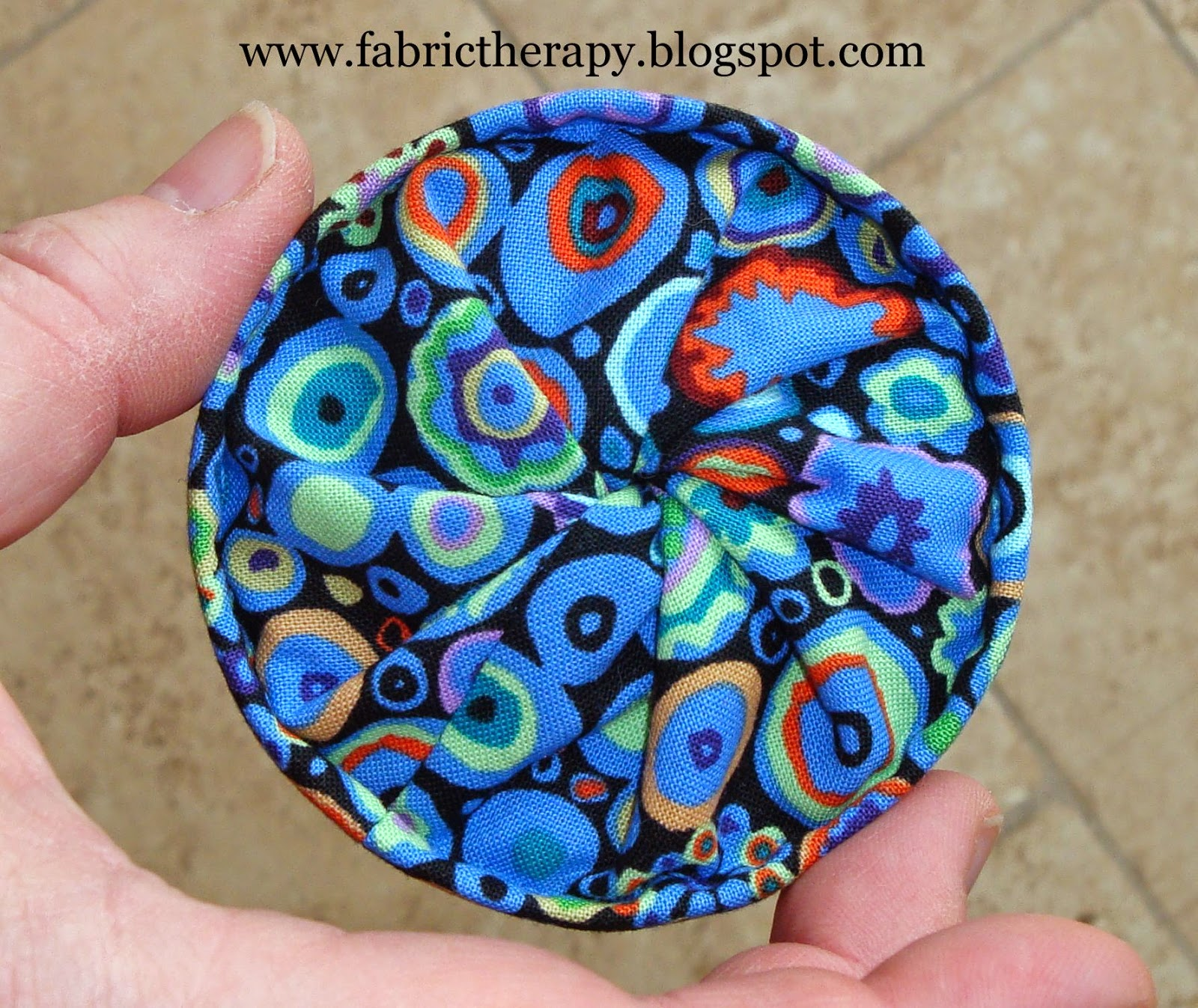 A tutorial the sweetest little thread catcher fabric for Hand thread painting tutorial