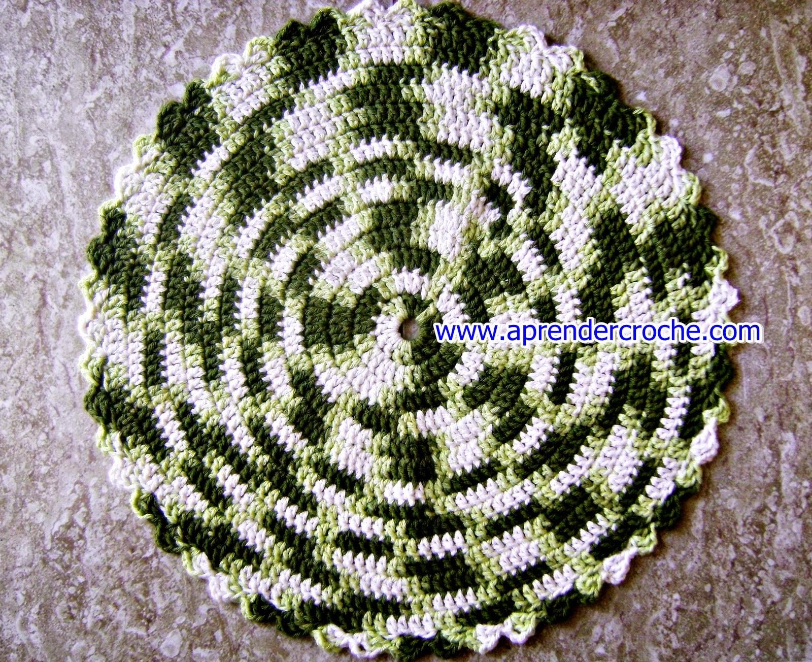 tapete em croche bicolor com girassol em aprender croche com Edinir-Croche na loja curso de croche