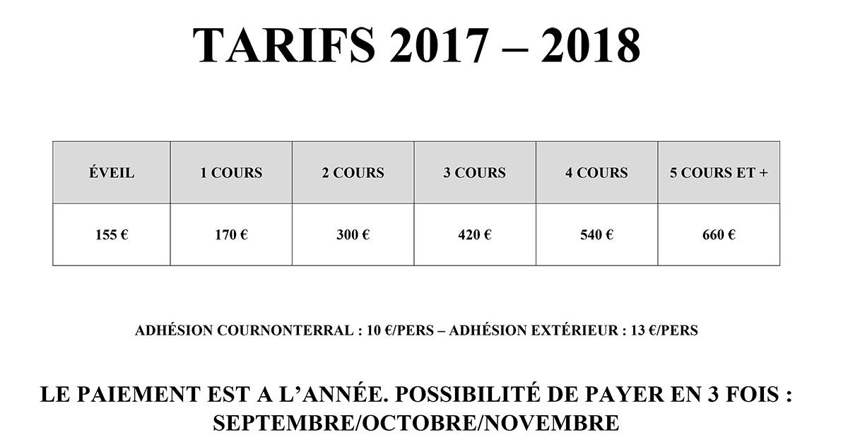 TARIF 2017-2018