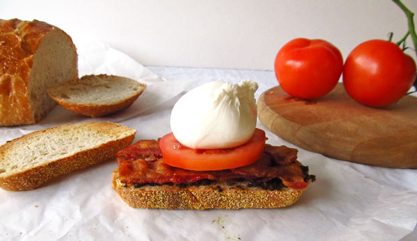 Burrata Cheese and Pesto BLT