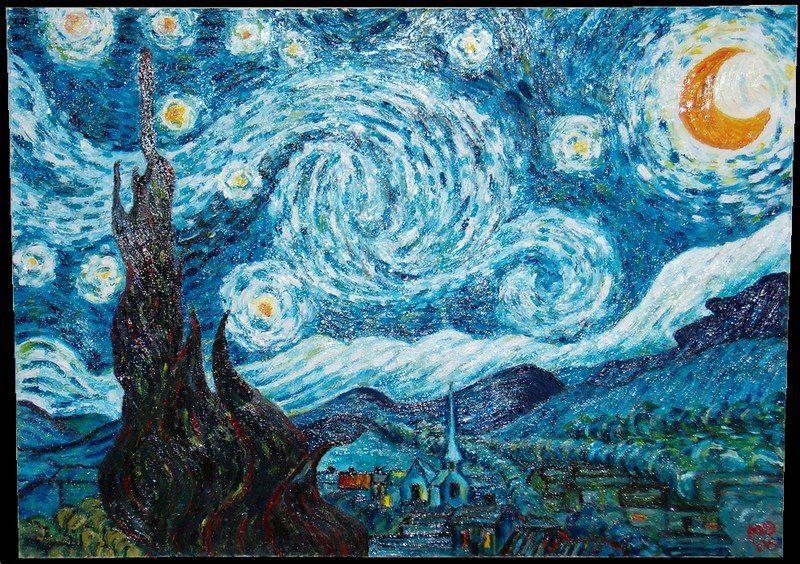 Blog dello scrittore alfred b revenge la notte stellata for La notte stellata vincent van gogh