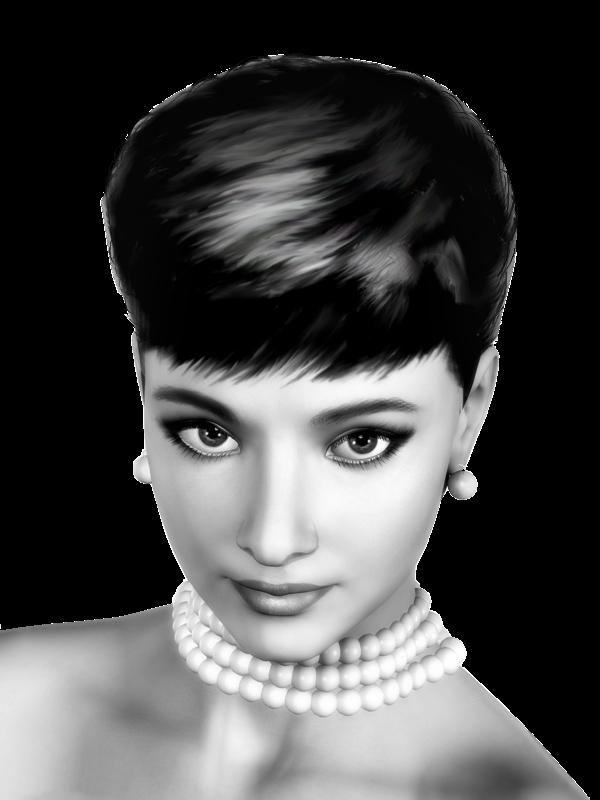 Женские стрижки черно белые
