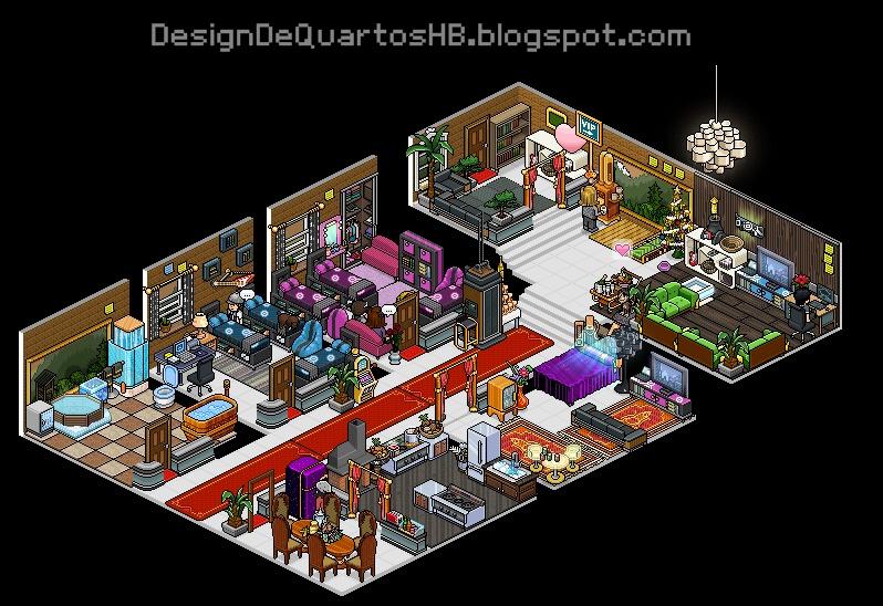 Mans es luxuosas do habbo hotel design de quartos habbo for Casas en habbo