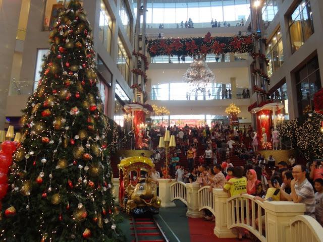 Christmass tree and dumbo train in Pavilion Mall, Kuala Lumpur, MALAYSIA