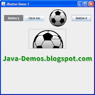 Screenshot of JButton Example