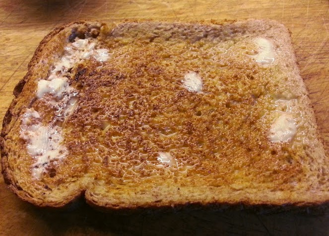 A slice of Warburtons wholemeal toast